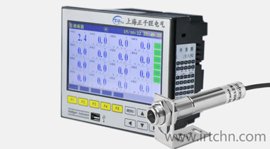 ZW-R7100系列非接触式红外温度传感器专用16路彩屏红外温度无纸记录仪