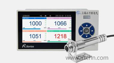 ZW-R6100非接触式红外测温仪专用小型彩屏四路红外温度记录仪